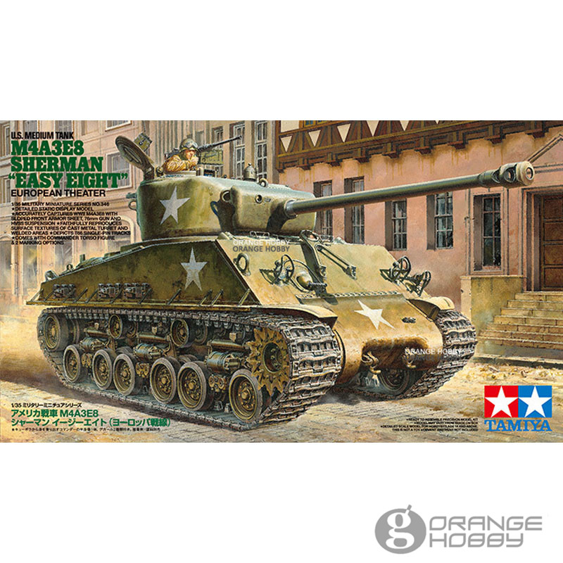 OHS Tamiya 35346 1/35 U.S. Tank M4A3E8 Sherman Easy Eight European Theater Military Assembly AFV Model Building Kits oh ohs tamiya 35289 1 35 russian heavy tank js2 model 1944 chkz military assembly afv model building kits