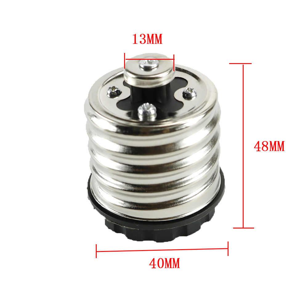 Lamp Base Bulbs Adapter Converter Socket E40 To E27 Holder For LED Light Halogen Filament CFL Light 16A 220V 40*48*13mm New JQ