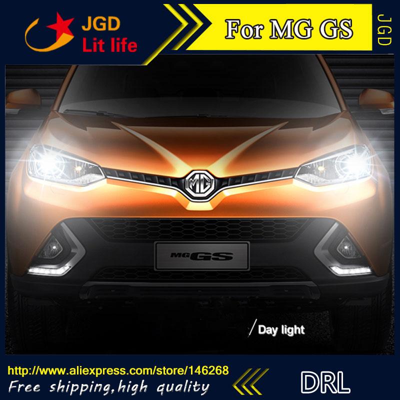 Free shipping ! 12V 6000k LED DRL Daytime running light for MG GS fog lamp frame Fog light Car styling
