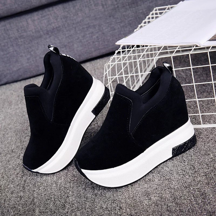 XEK 2018 Women Increased Shoes Women Fashion Platform Loafers Printed Casual Shoes Woman Wedges Shoes Breathable ZLL300 14