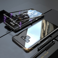 Tempered glass Phone Case For samsung galaxy S8 S9 PLUS note 8 9 New Second Generation Magnetic King protective screen cover