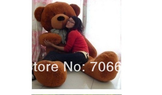 New stuffed dark brown teddy bear Plush 240 cm Doll 93 inch Toy gift wb8460