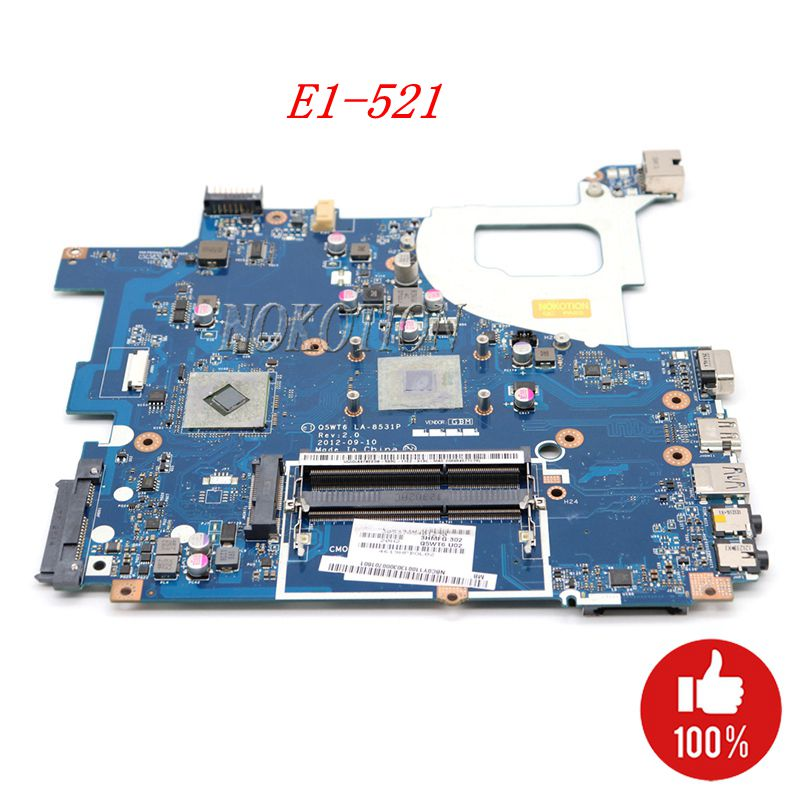 Laptop Motherboard For Acer E1 521 Packard Bell TE11BZ NBY1G11001 Q5WT6 LA 8531P Cpu