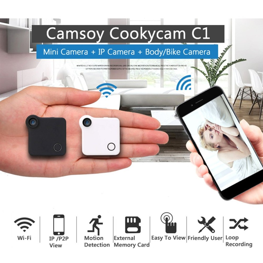 LESHP Mini Smart Wifi Wireless Camera 720P HD IP/P2P View Surveillance Camera with Clip Support Motion Detection Alarm recording hd 720p support alarm accessory wireless ip camera