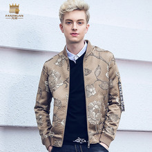 Free Shipping fanzhuan New 2018 spring new mens MALE man baseball collar jacket men zipper thin coat personality 810004