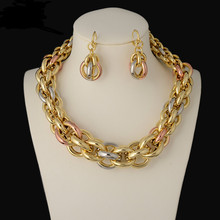 20167New High Quality Italy 750 Jewelry Sets Fashion Parure Bijoux Femme Dubai Arican Earrings Necklace China Choker
