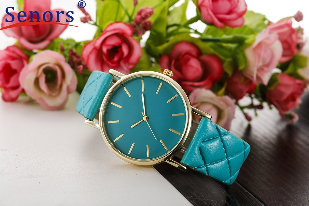 HF 2017 New Women Geneva Faux Leather Analog Quartz Wrist Watch relogio masculino relogio masculino Dropshipping geneva new jd mk