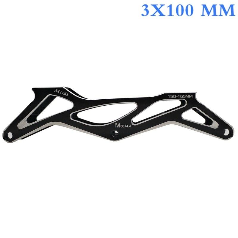 Free Shipping Speed Skates Frame 3x100 Mm Wheels Cnc Made 150-165 Mm