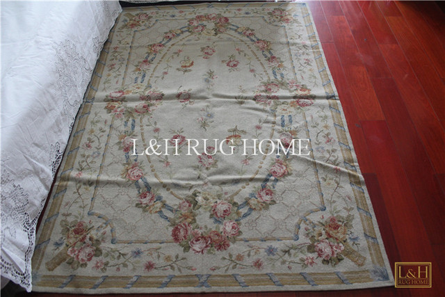 Free Shipping 4 X6 Needlepoint Rugs Handmade Carpet 100 New Zealand Wool
