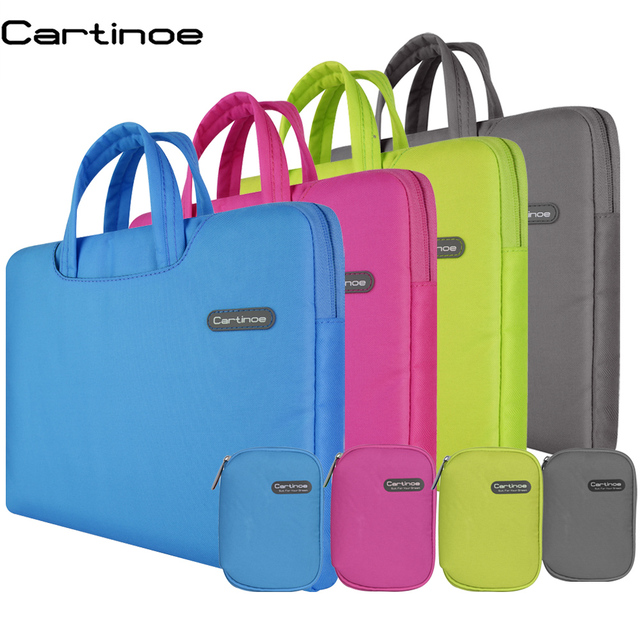 Portable Laptop Sleeve Bag 11 12 13 14 15 inch Laptop Bag Handbag Men Women Briefcase Case for Macbook Air 11 Pro 13 15 Cover