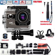 F68 F68R Sport Action Camera 4K Wifi Voice Alert sport Cam Novatek 96660 Diving Waterproof Mini Camcorders 170 lens HD DV