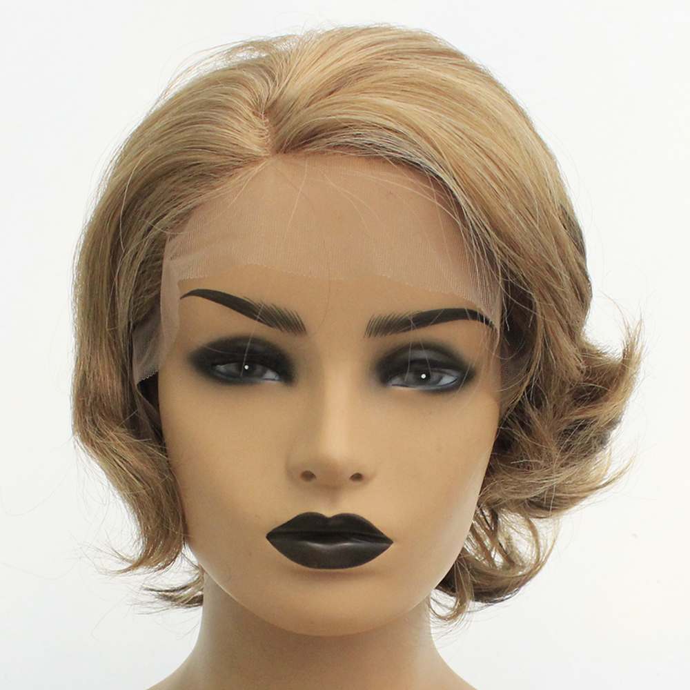 V Nice Synthetic Lace Front Wigs Blonde With Brown