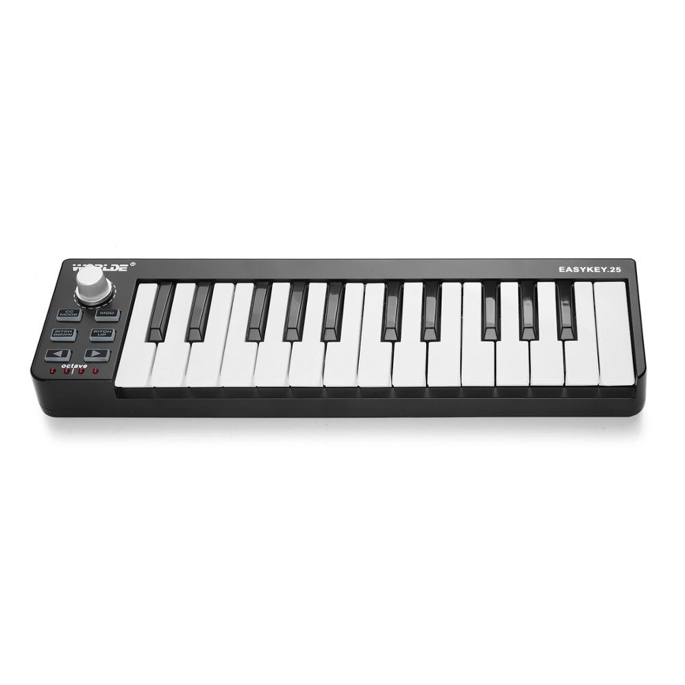 worlde 25 key usb midi keyboard controller in electronic organ from sports. Black Bedroom Furniture Sets. Home Design Ideas