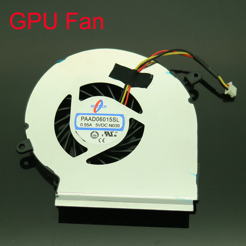 Free Shipping NEW PAAD06015SL DC5V 0 55A 3Pin Fan For MSI MS 16J2 MS 16J1 MS 16J5 MS 1792 CPU GPU Cooler Fan in Fans Cooling from Computer Office