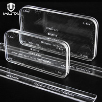 WUTA 1PCS Acrylic Template 3#/5# Zipper Installer Wallets Bags Zipper Installation Fix Tool DIY Handmade Leather Craft Tools|Leathercraft Tool Sets|Home & Garden -