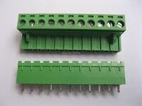 5 Pcs Green 11 Pin 5 08mm Screw Terminal Block Connector Pluggable Type