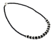 Black Crystal Beads Women's Necklace