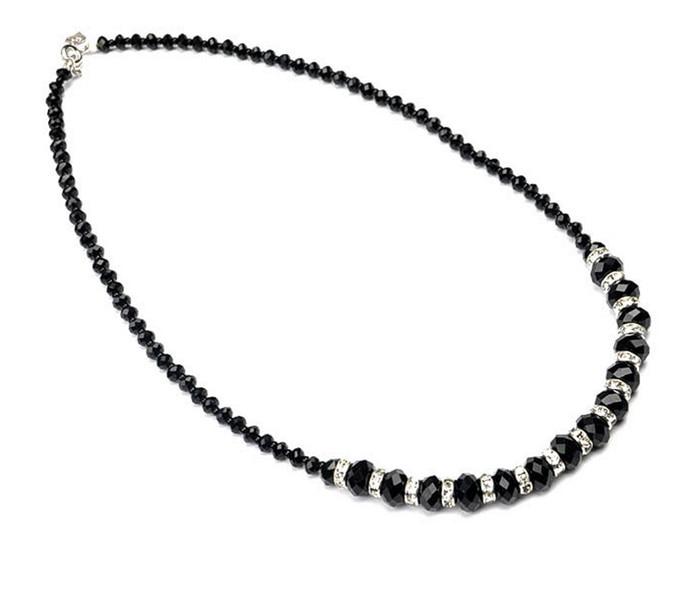 ̿̿̿(•̪ )Collar bijoux joyería cristal babero Cuentas collar con ...