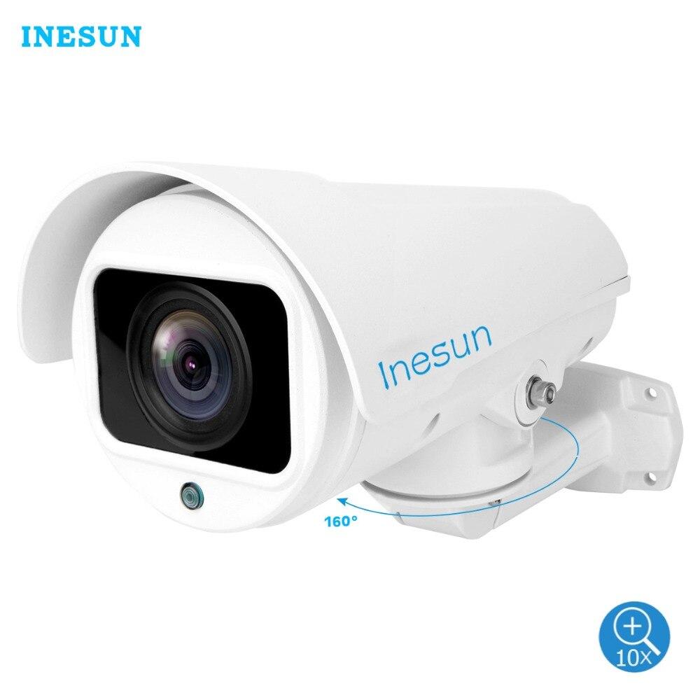 Inesun Outdoor HD 1080P 2MP PTZ IP Security Camera 4X 10X Zoom Autofocus Lens Support H