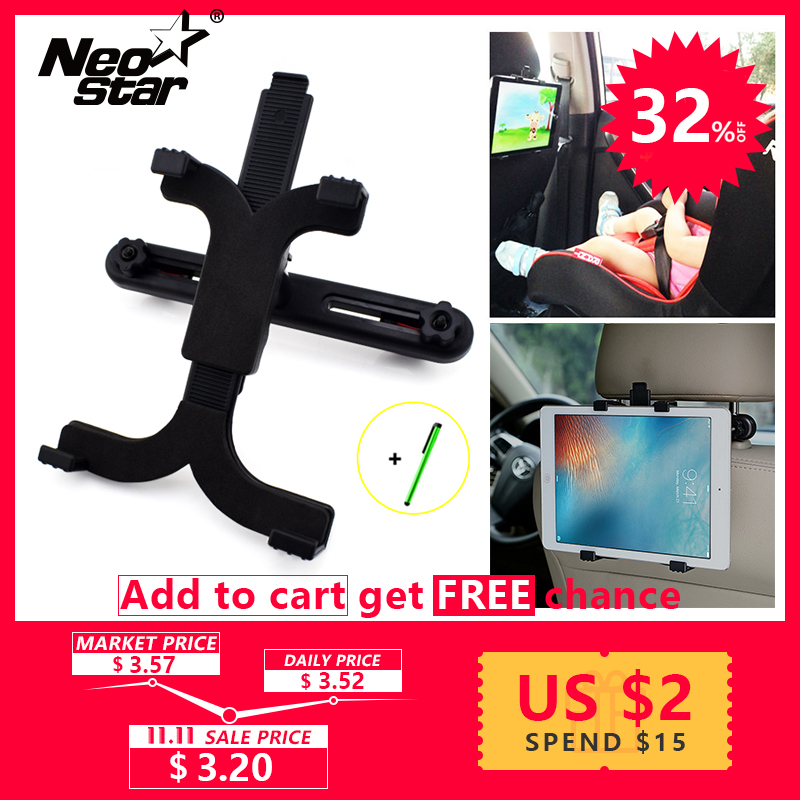 Car holder For Back Seat Tablet Stand Headrest  For Tablet 10.1 For Ipad Air 2 / 2017 For Kindle Paperwhite premium car back seat headrest mount holder stand for 7 10 inch tablet gps for ipad r179t drop shipping