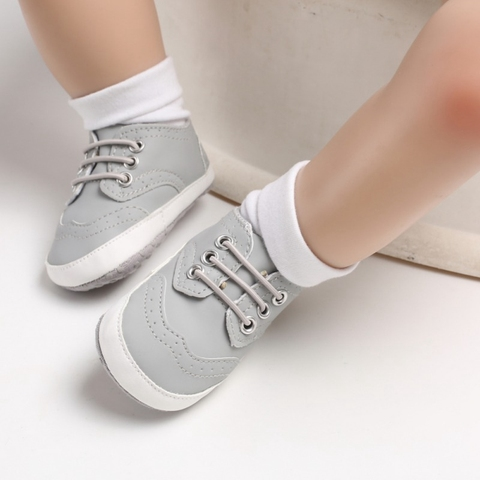 Spring Boys Shoes 0-18M Newborn Baby Shoes PU Strap Fashion Cotton Boys Shoes First Walker Casual Toddler Prewalker Karachi