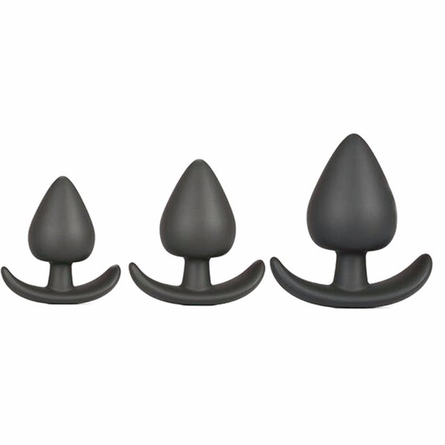 3pcs Adult Erotic Silicone Anal Plug  Prostata Massage Dildo Anal Beads Butt Plug For Gay Sex Toys For Men Women