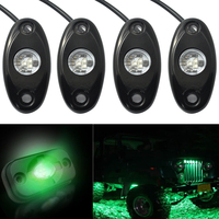 4pcs Professional Car Off Road LED Rock Under Body Light ATV 4WD For JEEP Truck Boat