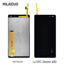 LCD Display For HTC Desire 600 Touch Screen Digitizer Panel Glass Sensor Monitor Screen Module Assembly Black No Frame 100% Test black for htc desire x t328e lcd display screen with touch screen panel digitizer assembly high quality with free tools