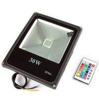 Refletor rgb led 홍수 빛 원격 컨트롤러 10 w 20 w 30 w 50 w led 스포트 라이트 100 w 방수 야외 벽 램프 투광 조명