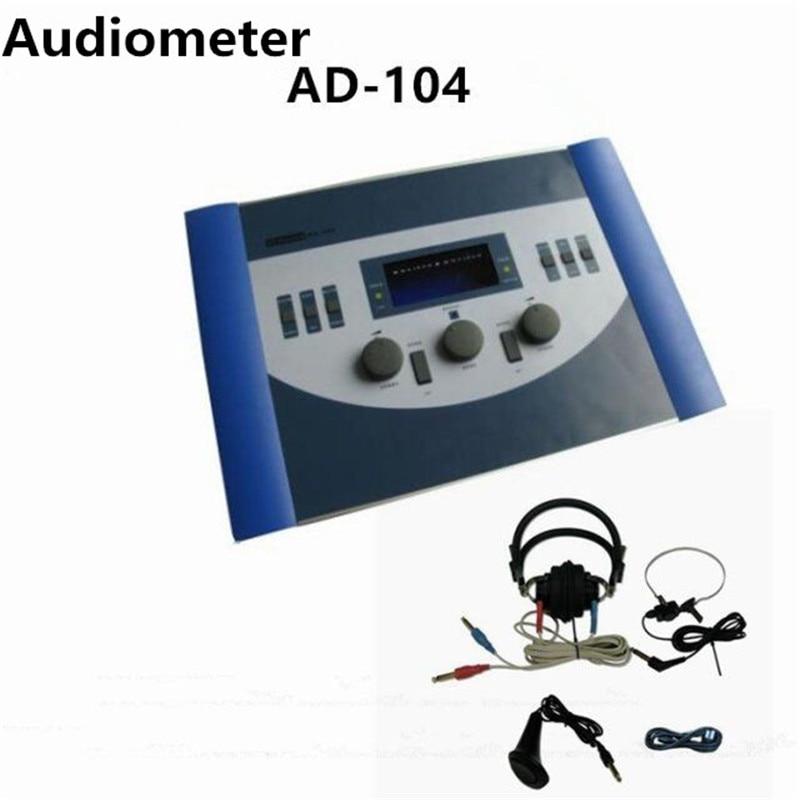 AD 104 Audiometer Hearing Loss Testing Audiometer Digital Machine Audiogram Portable Device free shipping