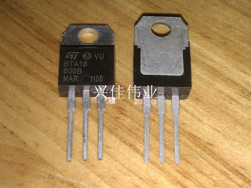 10PCS BTA16-600B BTA16-600 BTA16 Triacs 16 Amp 600 Volt TO-220 new original bta16 600b