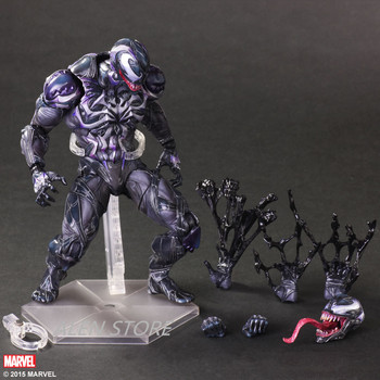 ALEN Spider Man Action Figure Venom Spider Collection Model PLAY ARTS Spider-Man Venom PVC Action Figure Play Arts Kai Venom Toy