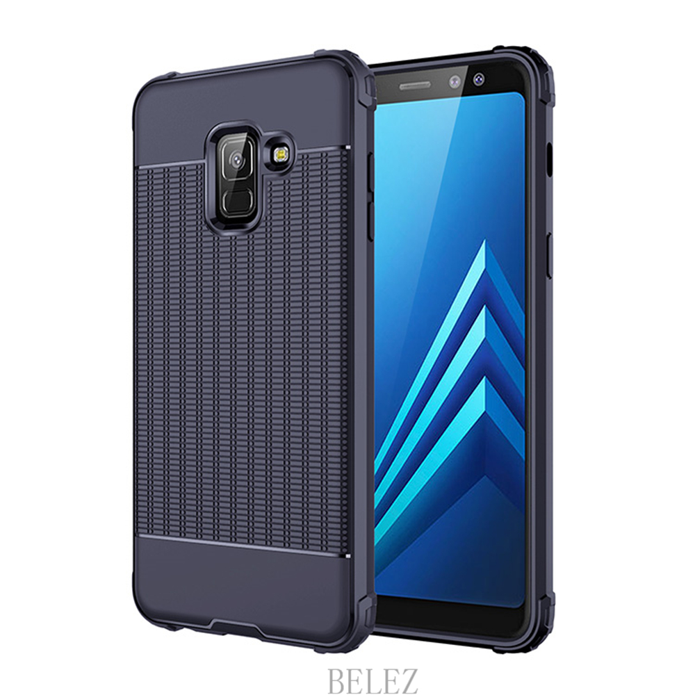 Luxury Carbon Fiber Cover for Samsung Galaxy A8 A6 A750 J4 J6 Plus A9 A6s 2018 Soft Case S7 edge S8 S9 Note 8 9 J2 J3 J5 J7 2017 5