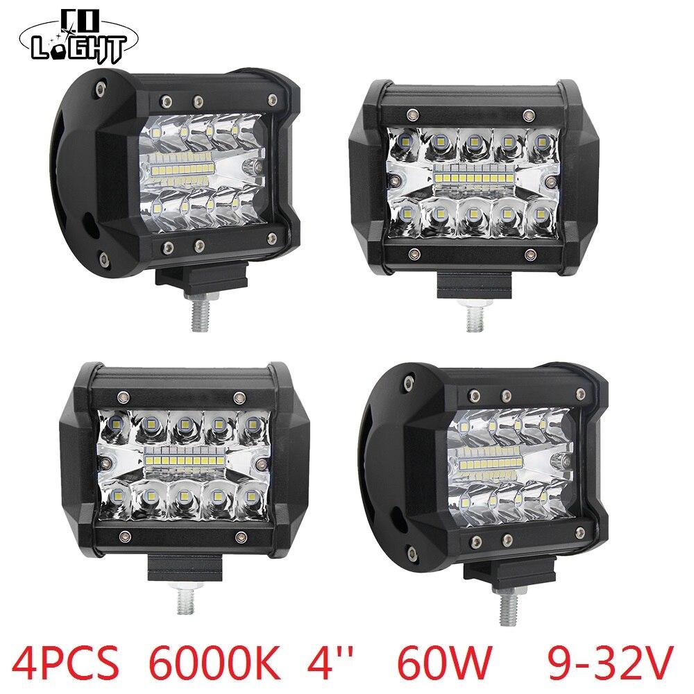 Co Light Led 12 Volt Work Light 60w 4 Inch Daytime Running