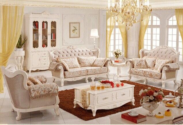 Billiger Preis 2016 Europäischen Klassischen Stil Massivholz Sofa Mit Fabic Finish Für Wohnmöbel