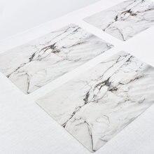 2 шт ПВХ мраморный коврик для стола посуда водонепроницаемые