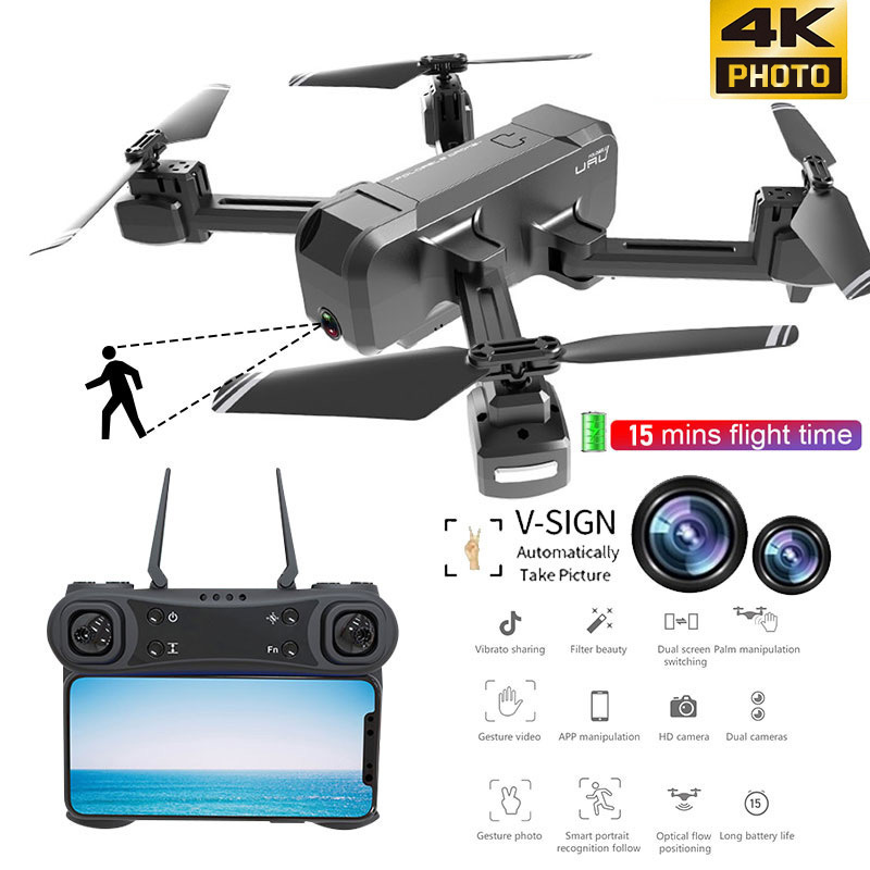 KF607 Mini Drone With Camera HD Altitude Hold Headless Mode 2.4G RC Foldable Drone quadcopter RTF Quadcopter RC Helicopter Toys-in RC Helicopters from Toys & Hobbies