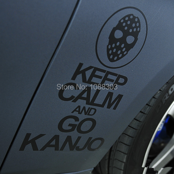 Car Styling Funny Japan JDM Car Sticker Decals for Toyota Motorcycle Bike Skateboard decals for OSAKA KEEP CALM AND GO KANJO