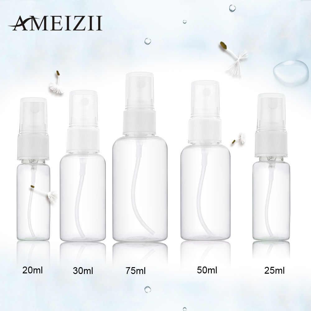 1 Pcs 20 Ml 25 Ml 30 Ml 50 Ml 75 Ml Acak Warna Transparan Plastik Parfum Penyemprot Kecil mini Semprot Kosong Botol Isi Ulang