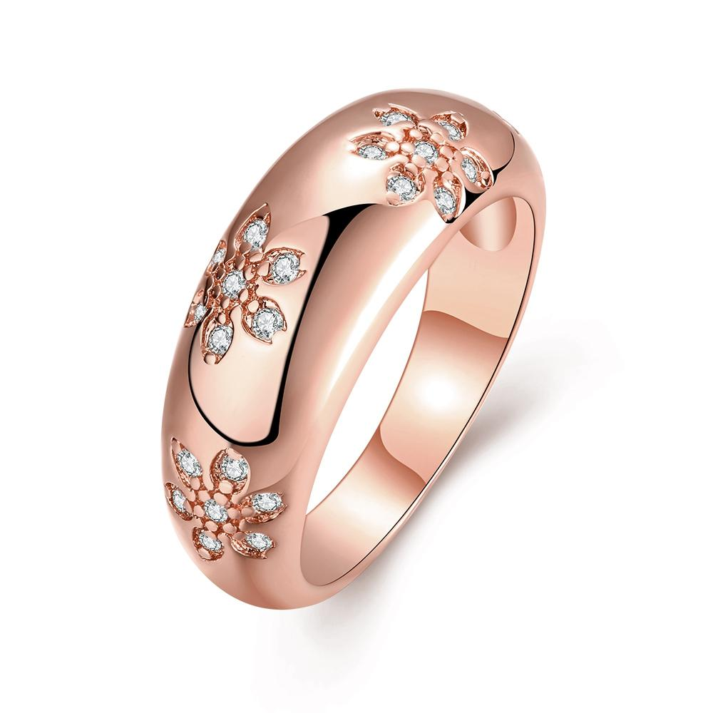 beautiful design gold colour swisss CZ zircon finger rings fashion jewelry wedding gift for woman High quality