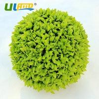ULAND Artificial Boxwood Balls Plastic Plants Kissing Balls Faux Topiary Sphere Porch Wedding Christmas Garden Decoration