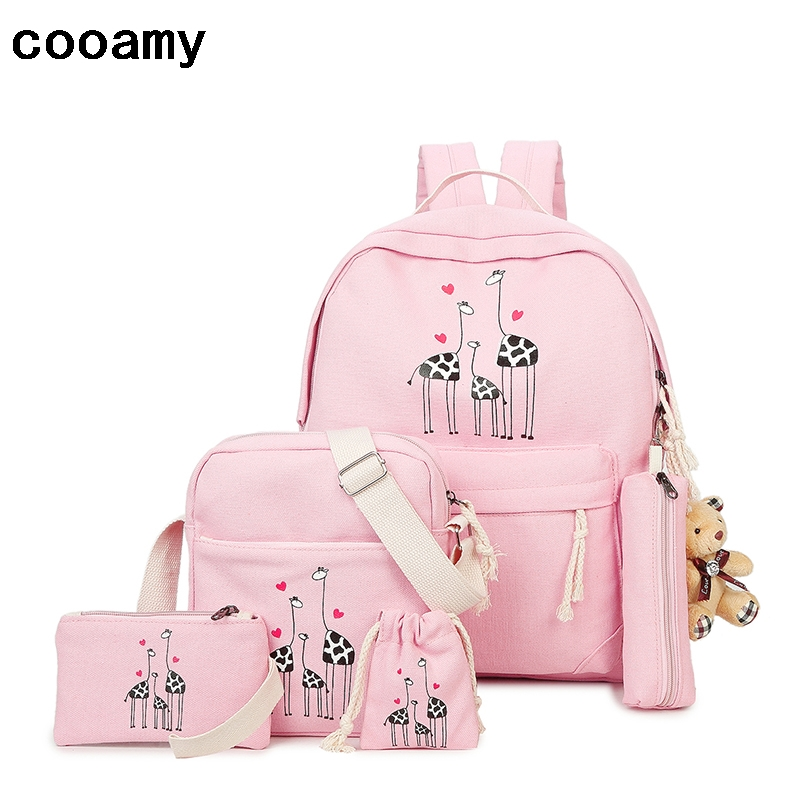 Canvas Backpack Women School Bag For Teenagers Girls Preppy Style Composite Shoulder Bag Set Travel High Quality Female Backpack автомагнитола usb sd supra sfd 121usc