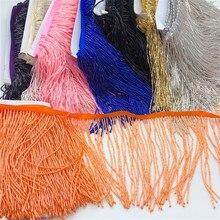5 metro allingrosso 15 centimetri (6 pollici) In Vetro pesante Oro Seme di colore In Rilievo Frangia Lampada Costume Trim Artigianato