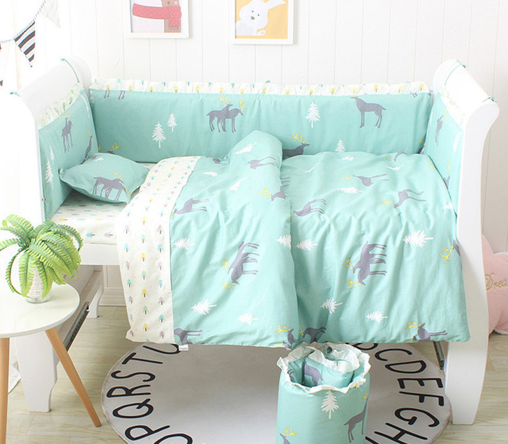 Discount! 6/9pcs Elk Newborn Baby Cot Set For Boys Baby Bedding Set Cotton Baby Quilt Cover Spring Autumn whole ,120*60/120*70cmDiscount! 6/9pcs Elk Newborn Baby Cot Set For Boys Baby Bedding Set Cotton Baby Quilt Cover Spring Autumn whole ,120*60/120*70cm