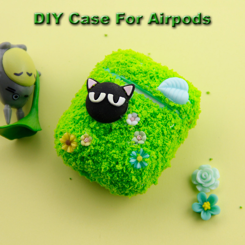 DIY Silicone Case For Apple Airpods Handmade Protective Accessories Cover Pouch Bluetooth Earphone Case Decorative Cute Case NEW