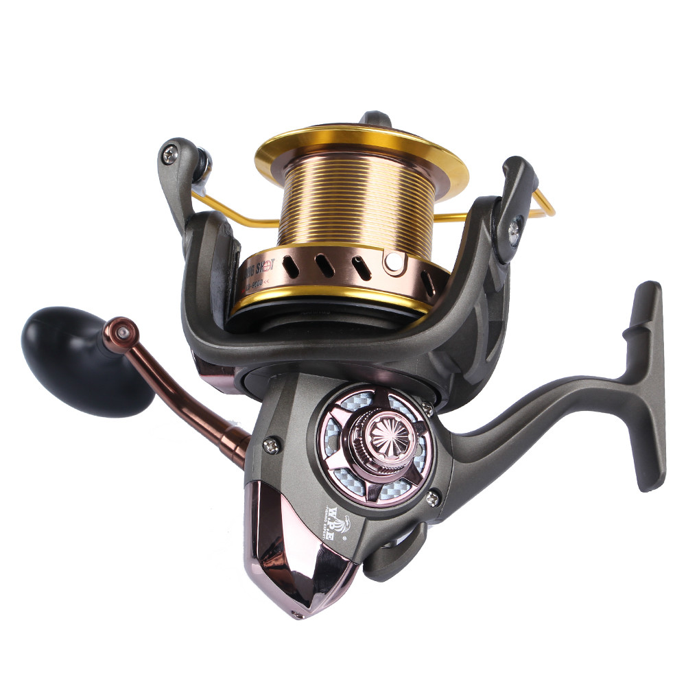 W.P.E 9000-10000 Long Shot Jigging Trolling Surf Casting Fishing Reel Full Metal Spool Sea Saltwater Big Spinning Reel Fishing haibo professional saltwater spinning fishing reel 5000 6000 7000 8000 9000 7bb 4 9 1 surf casting reel trolling jigging wheel