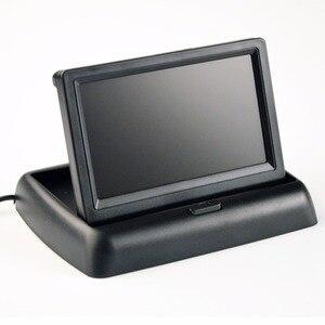 Image 4 - 4.3 Cal Monitor samochodowy Parking kamera cofania LCD TFT wyświetlacz hd pulpit/składany/lustro wideo PAL/NTSC