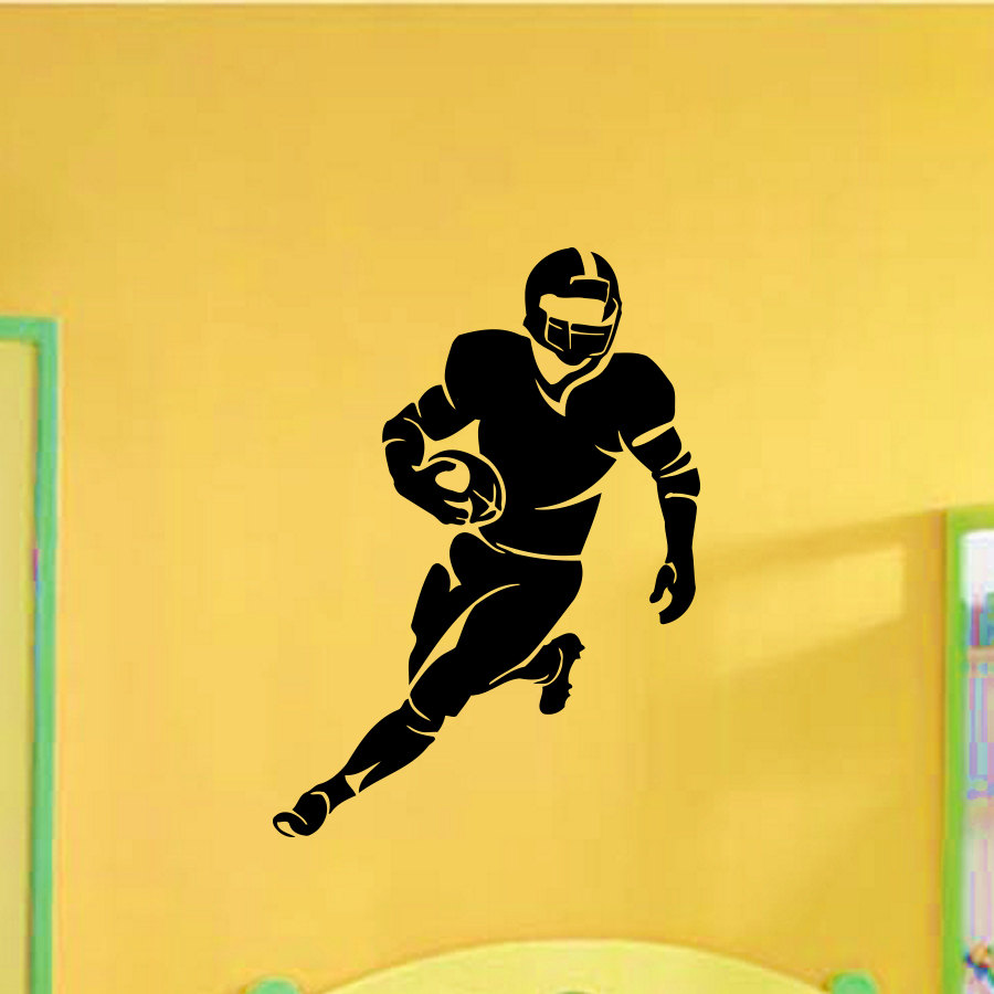 Rugby Player Watercolor Print Rugby Player Man Boy Nursery Wall Decor Sport-1311