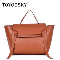 TOYOOSKY Bolsos Mujer 2018 Trapeze Tote   Bag   Luxury Brand Pu Leather Women Handbag Shoulder   Bag   Famous Designer   Crossbody     Bags