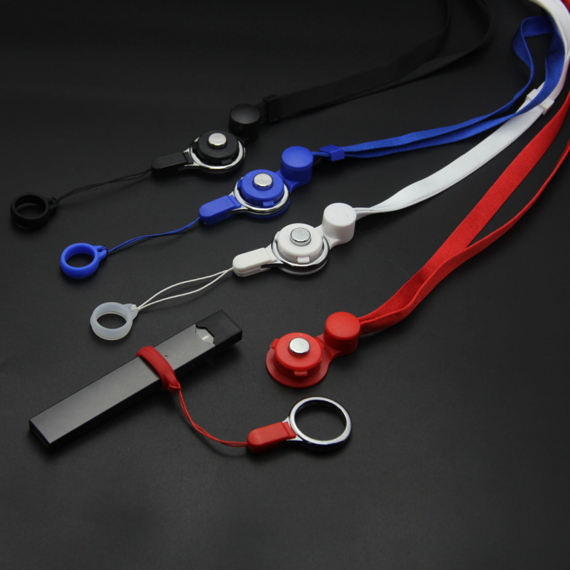 DIY 13mm Silicone Ring Electronic Cigarette Detachable Rotate Necklace Lanyard For For JUUI RELX Zero Pod Vape Box